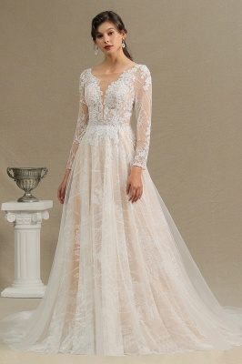 Fashion Brautkleider mit  Ärmel | A Linie Hochzeitskleid Standesamt_2
