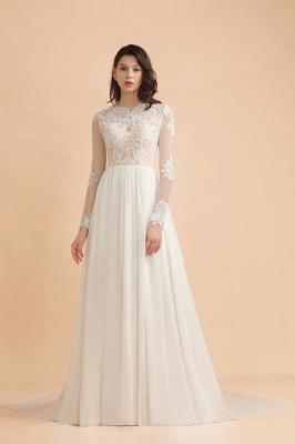 Schlichtes Brautkleid A Linie | Hochzeitskleider mit Ärmel_4