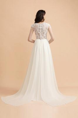 Schlichtes Brautkleid A Linie | Hochzeitskleider mit Ärmel_2