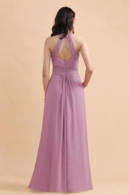 Brautjungfernkleider Lang Rosa | Chiffon Kleider Günstig_3