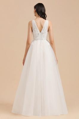 Designer Brautkleid V Ausschnitt | Hochzeitskleider A Linie_2