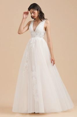 Designer Brautkleid V Ausschnitt | Hochzeitskleider A Linie_1