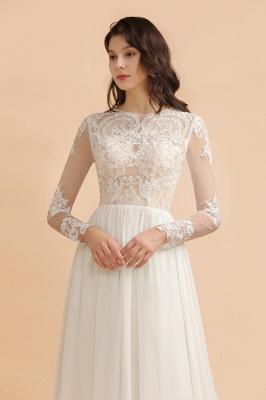 Schlichtes Brautkleid A Linie | Hochzeitskleider mit Ärmel_6