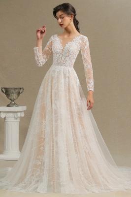 Fashion Brautkleider mit  Ärmel | A Linie Hochzeitskleid Standesamt_11