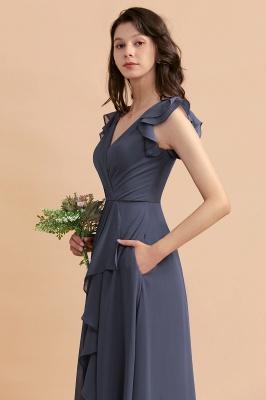 Grey Brautjungfernkleider Lang Günstig   Chiffon Kleider Online_10