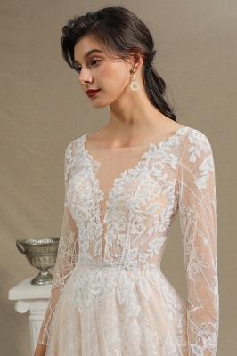 Fashion Brautkleider mit  Ärmel | A Linie Hochzeitskleid Standesamt_5