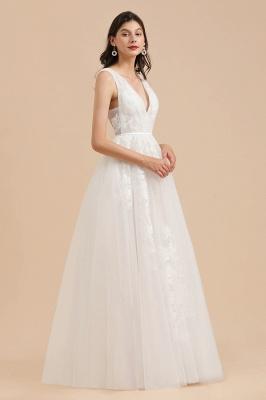 Designer Brautkleid V Ausschnitt | Hochzeitskleider A Linie_4
