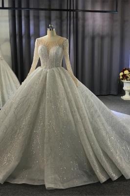 Designer Hochzeitskleider Prinzessin | Hochzeitskleid Lange Ärmel_2