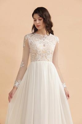Schlichtes Brautkleid A Linie | Hochzeitskleider mit Ärmel_7