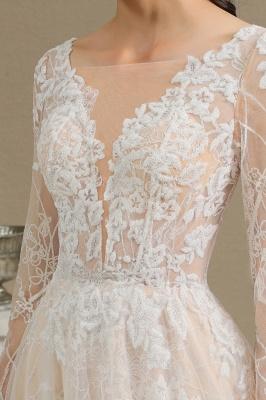 Fashion Brautkleider mit  Ärmel | A Linie Hochzeitskleid Standesamt_10