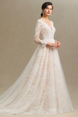 Fashion Brautkleider mit  Ärmel | A Linie Hochzeitskleid Standesamt_7