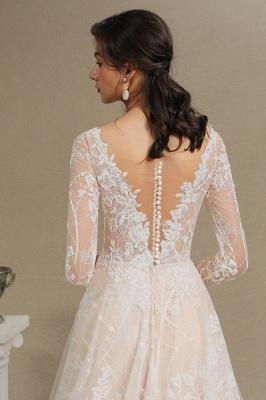 Fashion Brautkleider mit  Ärmel | A Linie Hochzeitskleid Standesamt_9