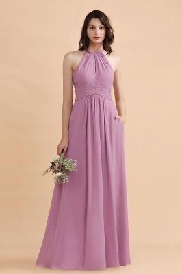 Brautjungfernkleider Lang Rosa | Chiffon Kleider Günstig_4