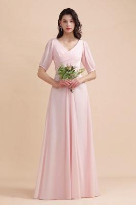 Brautjungfernkleider Rosa | Hochzeitspartykleider mit Ärmel_7