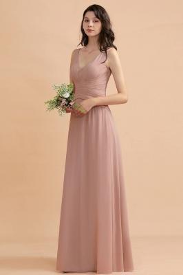 Brautjungfernkleider Lang Altrosa | Kleider für Brautjungfern_5
