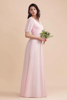 Brautjungfernkleider Rosa | Hochzeitspartykleider mit Ärmel_8