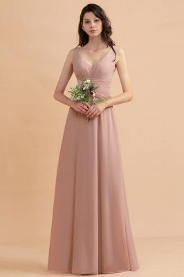 Brautjungfernkleider Lang Altrosa | Kleider für Brautjungfern_7