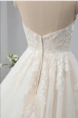 Brautkleid Standesam | A Linie Hochzeitskleid Spitze_4