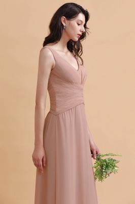 Brautjungfernkleider Lang Altrosa | Kleider für Brautjungfern_8