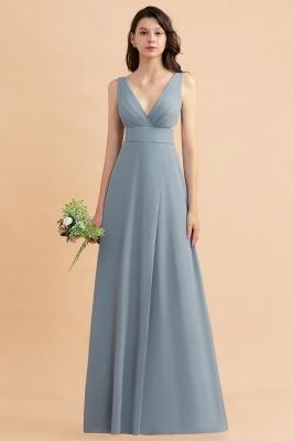 Brautjungfernkldier Grau | Chiffon Kleider für Brautjungfern_4