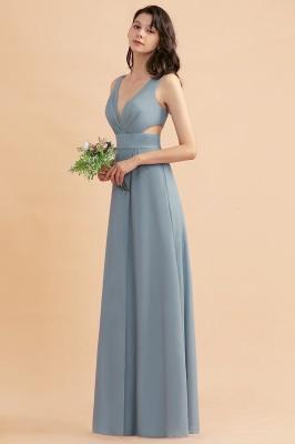 Brautjungfernkldier Grau | Chiffon Kleider für Brautjungfern_6