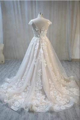 Hochzeitskleider Standesamt | Spitze Brautkleid A Linie_2