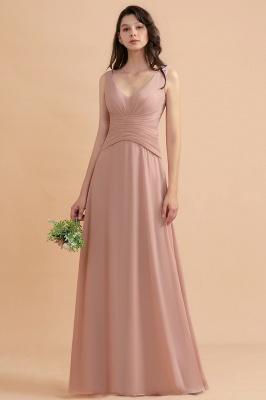Brautjungfernkleider Lang Altrosa | Kleider für Brautjungfern_1
