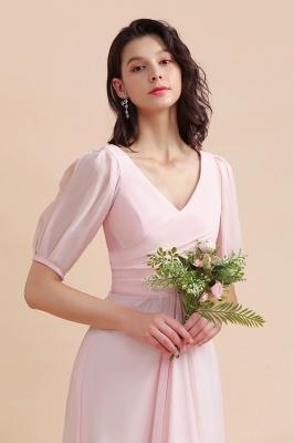 Brautjungfernkleider Rosa | Hochzeitspartykleider mit Ärmel_9