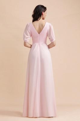 Brautjungfernkleider Rosa | Hochzeitspartykleider mit Ärmel_3
