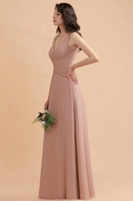 Brautjungfernkleider Lang Altrosa | Kleider für Brautjungfern_4
