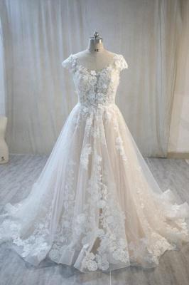 Hochzeitskleider Standesamt | Spitze Brautkleid A Linie_1