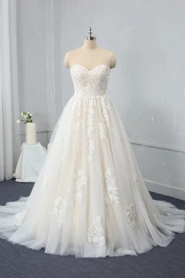 Brautkleid Standesam | A Linie Hochzeitskleid Spitze_1