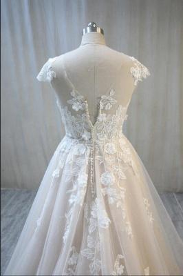 Hochzeitskleider Standesamt | Spitze Brautkleid A Linie_4