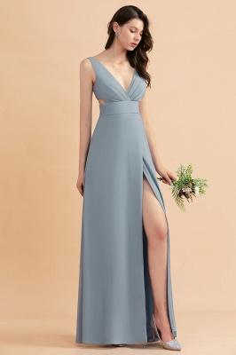 Brautjungfernkldier Grau | Chiffon Kleider für Brautjungfern_5