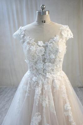 Hochzeitskleider Standesamt | Spitze Brautkleid A Linie_3