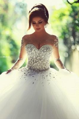 Luxus Brautkleider Prinzessin mit Ärmel | Hochzeitskleider Mit Glitzer_1