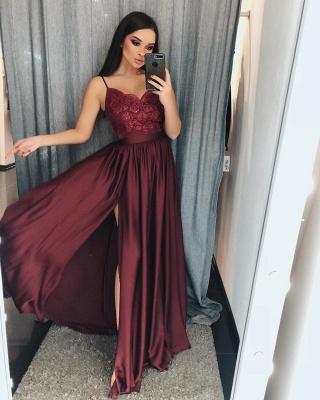 Schlichte Abendkleider Weinrot | Abendmoden Lang Günstig Online_1