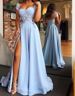 Hell Blaues Abendkleider Lang Günstig | Abiballkleider Online Kaufen_1