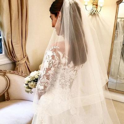 Elegante Hochzeitskleider Mit Spitze   Brautkleider Lange Ärmel_3