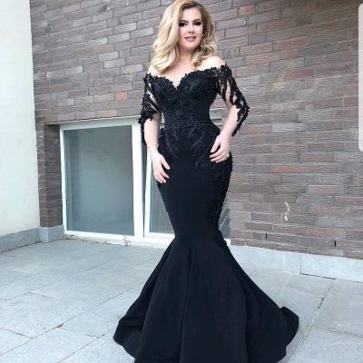 Designer Abendkleid Mit Ärmel | Schwarze Abendkleider Lang Günstig_3
