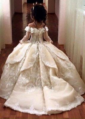 Günstige Blumenmädchenkleider Online Blumenkinder Kleider Hochzeit Mit Spitze
