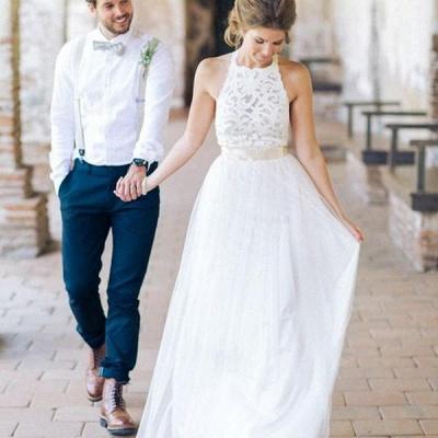Designer Weiße Etuikleid Hochzeitskleider Brautmoden | Brautkleider Strand Mit Spitze_2