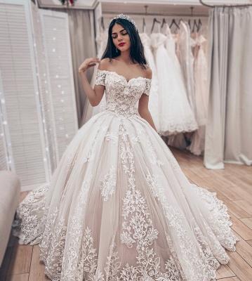 Wunderschöne Brautkleider Prinzessin   Hochzeitskleider Spitze Günstig_2