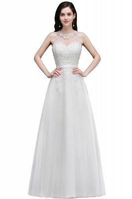 Schlichtes Hochzeitskleid A Linie | Brautkleider mit Spitze_2