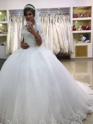 Modern Prinzessin Hochzeitskleider Online | Schöne Brautkleider Mit Spitze Bodenlang_6