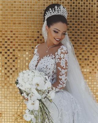 Luxus Brautkleider Mit Ärmel | Hochzeitskleider Meerjungfrau Spitze_3
