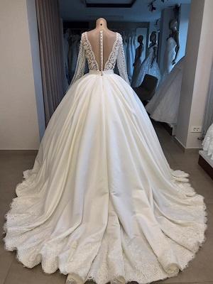 Elegante Brautkleid Mit Ärmel | Prinzessin Hochzeitskleid Weiß Online_5