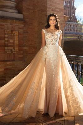 Elegante Brautkleider Mit Spitze   Hochzeitskleider A Linie Online_1