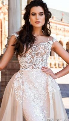 Elegante Brautkleider Mit Spitze   Hochzeitskleider A Linie Online_3