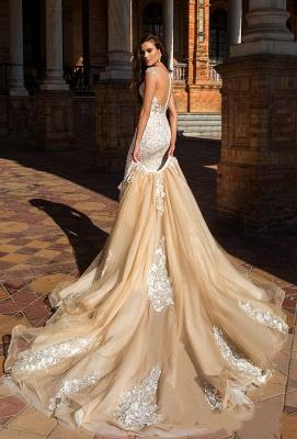 Elegante Brautkleider Mit Spitze   Hochzeitskleider A Linie Online_4